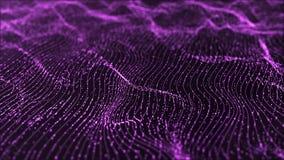 Digital violet animation wave background
