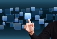 Digital virtaul screen Stock Images