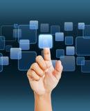 Digital virtaul screen Royalty Free Stock Photo