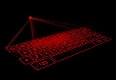 Digital virtual keyboard on black background Royalty Free Stock Images