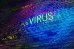 Digital virus symbol stock illustration