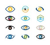 digital vision eye technology vector logo design royalty free stock photography