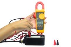 Digital voltmeter Fotografering för Bildbyråer