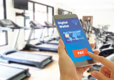 Digital wallet to pay Stock Images