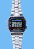 Digital watch. Popular model of one of the first digital watches from late 60-s. Can be seen in Dirty Harry movies Stock Photo