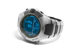 Digital watch. Electronic watch with compass, date etc stock photography