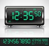 Digital watch on white Stock Photos