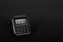Digital Watch with calculator Stock Photos