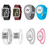 Digital Watch Collection Royalty Free Stock Images