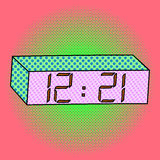 Digital watch pop art vector illustration Stock Photos