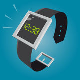 Digital watch in retro style Stock Photo