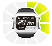 Digital watch timer 20 minutes Royalty Free Stock Image