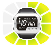 Digital watch timer 40 minutes. Vector illustration isolated on white background Stock Photo