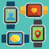 Digital watch vector Royalty Free Stock Photography