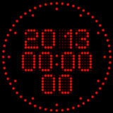 Digital watches. Illustration of the digital led clock with calendar Royalty Free Stock Photos