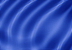 Digital water ripples. Digital water ripples effect blue dots background Stock Photo