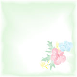 Digital watercolor background with flowers. Gentle  pattern. Royalty Free Stock Images