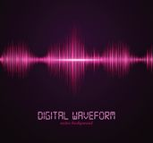Digital waveform. Vector illustration for your artwork Royalty Free Stock Photography