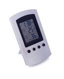 Digital weather station with clock Royalty Free Stock Photography