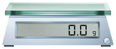 A digital weighing scale Stock Photos