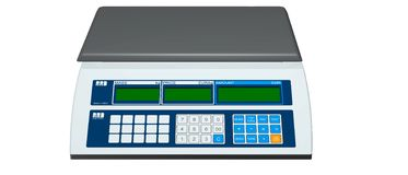 Digital weighing scales. Commonly seen in shops for weighing meat and groceries etc Royalty Free Stock Image