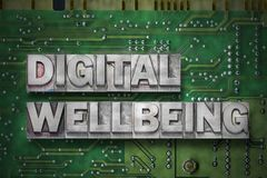 Digital wellbeing gr Royalty Free Stock Image