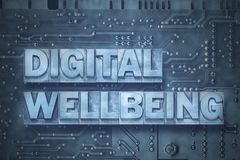 Digital wellbeing - pc board Royalty Free Stock Image
