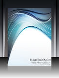 Digital-Welle Flayer-Design Lizenzfreie Stockbilder