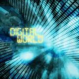 Digital-Weltillustration Lizenzfreie Stockbilder
