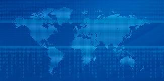 Digital-Weltkarte vektor abbildung