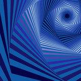 Digital whirling blue hexagonal forms Royalty Free Stock Images