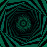 Digital whirling green hexagonal forms Royalty Free Stock Photo