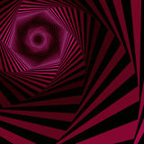 Digital whirling magenta hexagonal forms Royalty Free Stock Photo