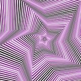 Digital whirling pentagonal star forms in violet hues Stock Images