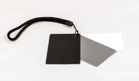 DIgital White Black Grey Balance Cards Stock Photos