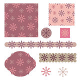Digital winter scrap Stock Images
