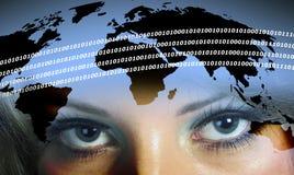 Digital woman Stock Images