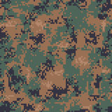 Digital Woodland Camouflage Seamless Pattern Royalty Free Stock Photo
