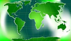 Digital word map Stock Image