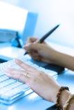 digital working för konstnär Royaltyfri Foto