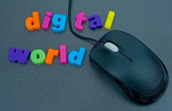 Digital world. Royalty Free Stock Photo