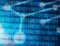 Digital world. With binary code Royalty Free Stock Image