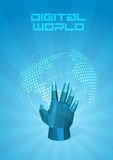 Digital World. Dotted map Royalty Free Stock Photo