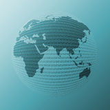 Digital world. World globe generated from 0 and 1 digits Royalty Free Stock Photo