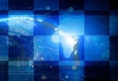 Digital world vector illustration