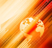 Digital world. On abstract background Royalty Free Stock Photos