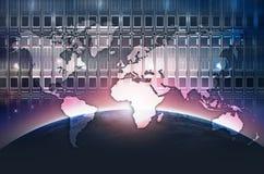 Digital World Background. Digital World Abstract Concept. Global Datacenter Background Stock Photo