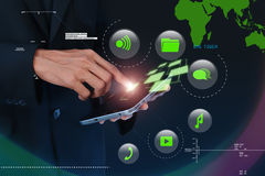 Digital world concept. In attractive background Royalty Free Stock Photos