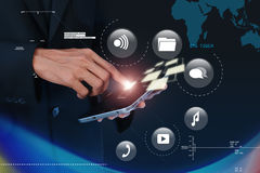 Digital world concept. In attractive background Royalty Free Stock Image