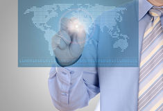 Digital world concept graphic Stock Photography